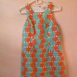 Lilly Pulitzer Floral Lace Mod Mini dress